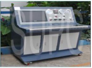 轴承冷却水道水压密封性试验机|轴承座水压试验机-计算机水压压力曲线测试台